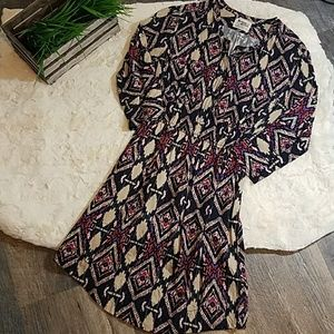 [Holding Horses] by Anthro Aztec Print Rayon Dress